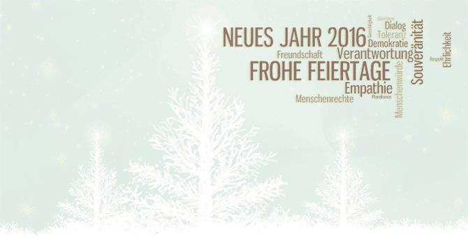 Frohe Weihnachten und ein friedvolles neues Jahr wünscht Ihnen der Bundesverband Ethik